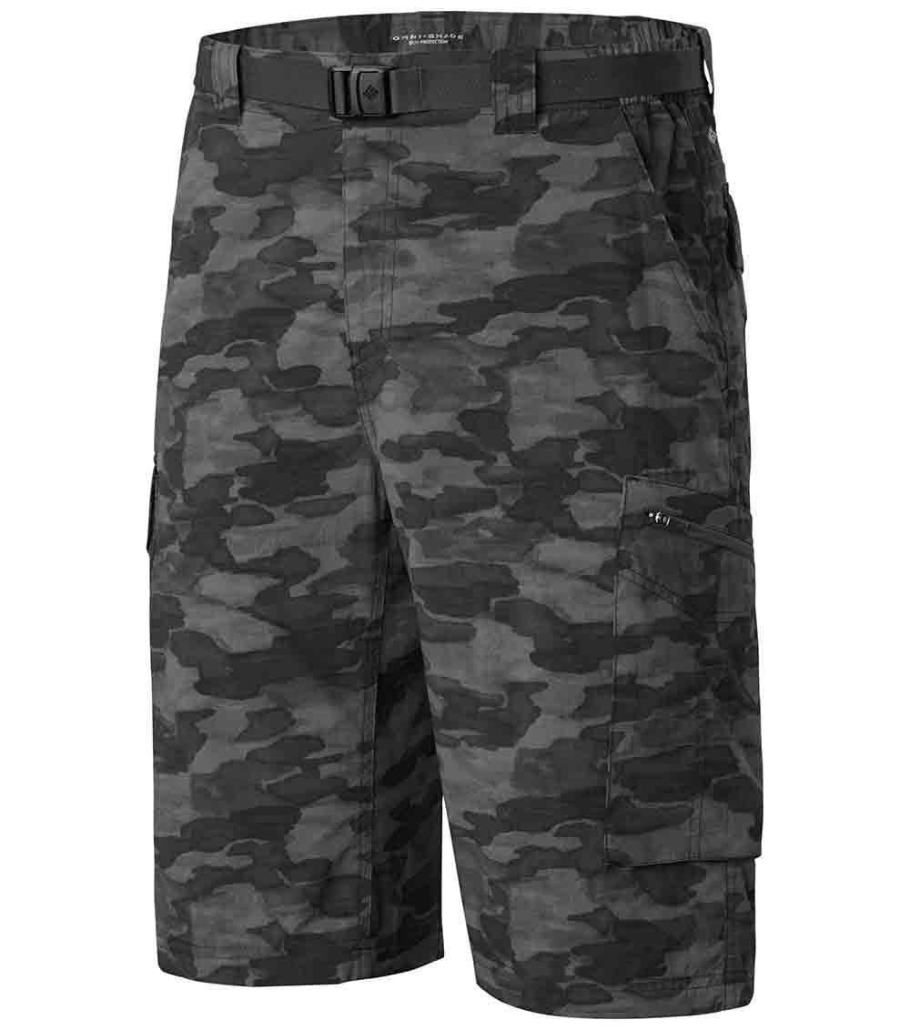 a1b7211d18 Columbia Mens Silver Ridge Printed Cargo Shorts Black Camo