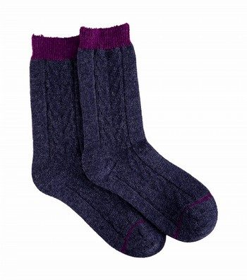 Merino Cable Trekker Socks
